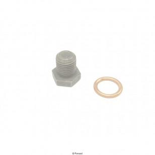 Magneettinen öljyproppu (M14 x 1.5x 25 mm), musta, tiivisterenkaineen
