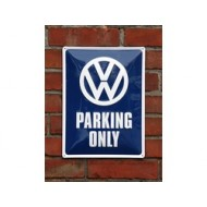 VW Parking Only, metallikyltti 300x400mm